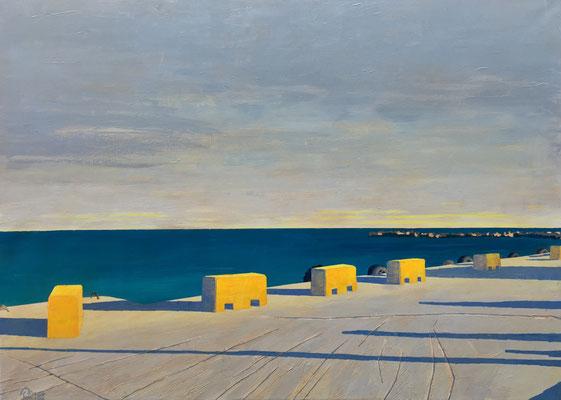 """Seaside III"" | Mischtechnik auf Leinwand | 100 x 140 cm"