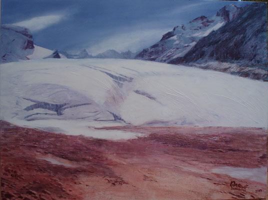Vadrec dal Forno blau  Öl auf Leinwand rot  120 x 160 cm