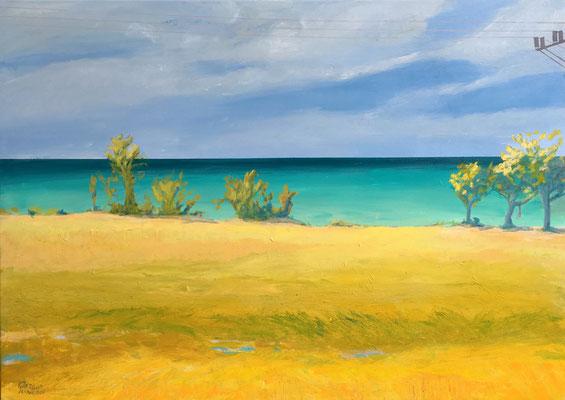 """Seaside V"" | Mischtechnik auf Leinwand | 100 x 140 cm"