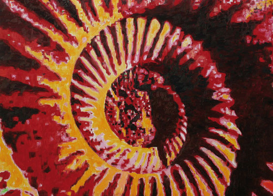 """Ammonite deep red"" 