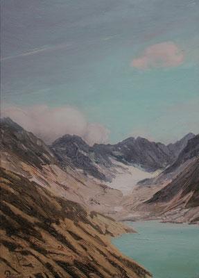 Glacier AlbignaII  Öl auf Leinwand  70 x 50 cm