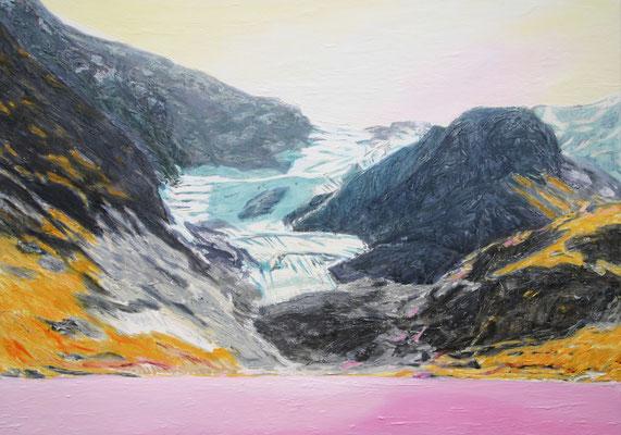 """Stein Glacier"" | Oel auf Leinwand | 100 x 140 cm"