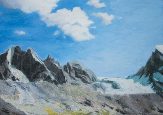 Vadrec da la Bondasca l  Öl auf Leinwand  100 x 140 cm