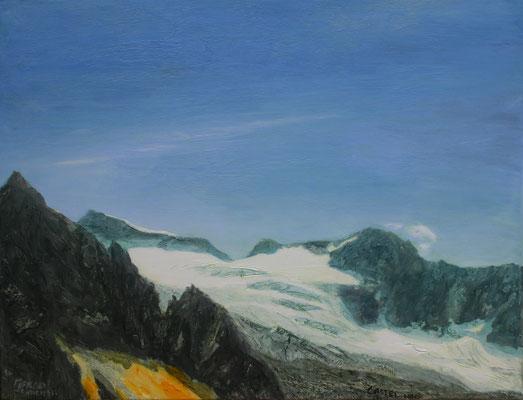 Glacier Castel Sud Öl auf Leinwand  70 x 90 cm