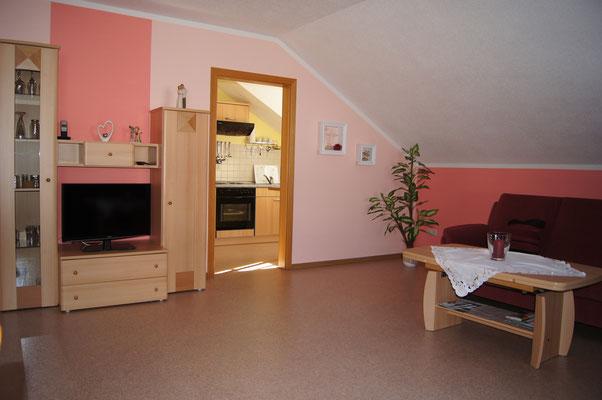 Wohnzimmer Ferienwohnung 1