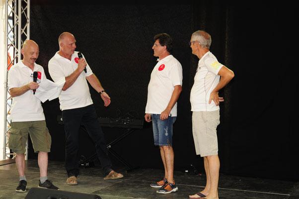 Begrüßung zu unserer Benefizveranstaltung: Verein VIVANOVA und Walter BRENNER von unseren Partnerverein GEBEN FÜR LEBEN