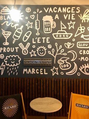 Compteur de points de pétanque au Café Le Marcel de Genève