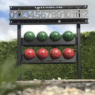 Compteur de score de Bocceball avec support pour boules de 107 mm