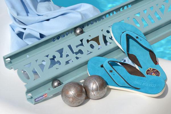 Compteur de score pétanque ROLL bleu lagon