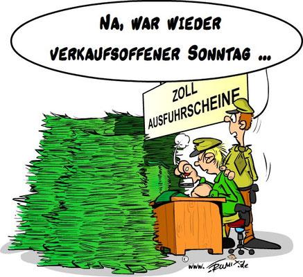 Verkaufsoffner Sonntag in Konstanz. Da muss wieder gestempelt werden.