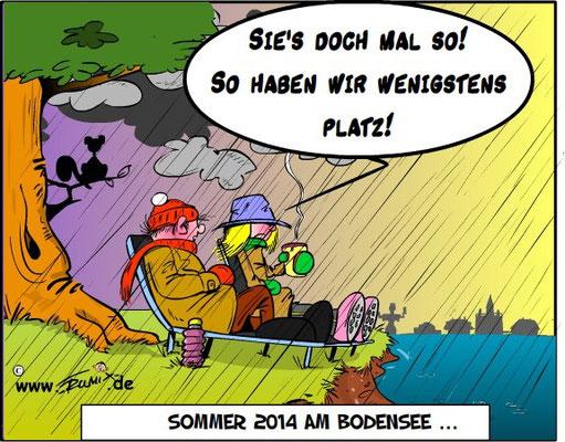 Sommer 2014: Dieser Sommer war mal wieder sehr verregnet