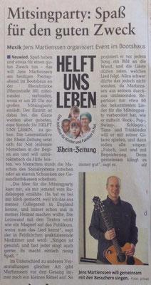 Bericht in der Rhein Zeitung