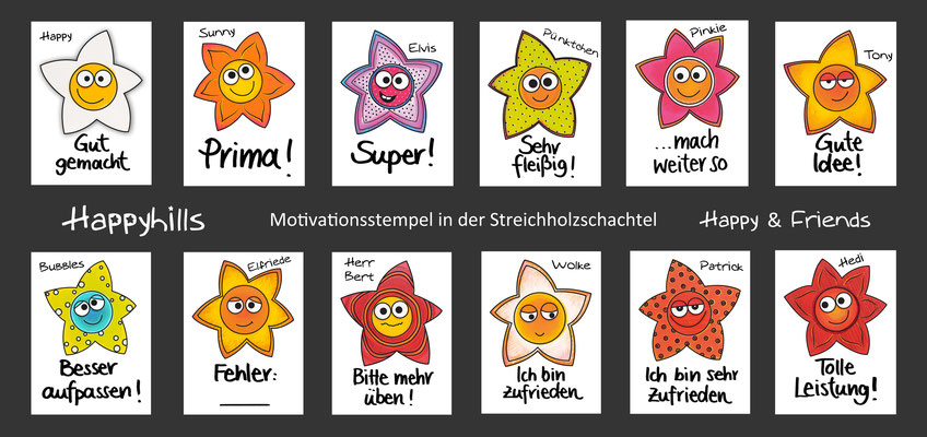 Flyer Motivationsstempel Happyhills