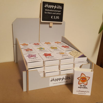 im Verkaufsdisplay 48 Stk Happyhills Motivationsstempel