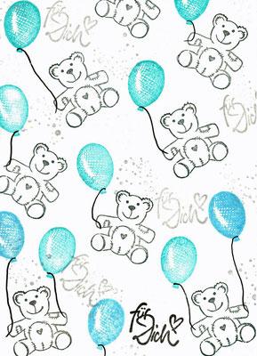 Teddys mit Luftballons, für Dich