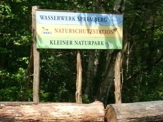 Eingangsschild zum kleinen Naturpark Slamener Kuthen