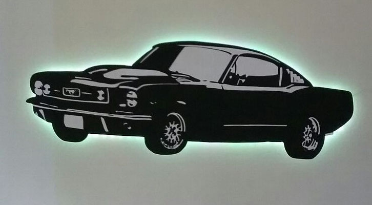 Muscle Car met ledverlichting