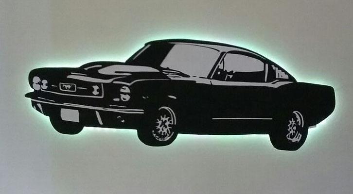 Muscle Car met ledverlichting