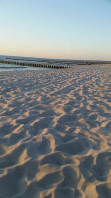 Rosablauer Sonnenuntergang an der Ostsee.