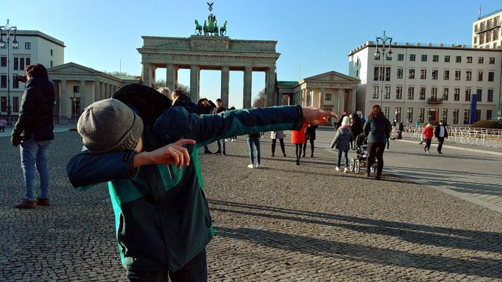 Es war auch ein halber Tag für Sehenswürdigkeiten drin, Brandenburger Tor