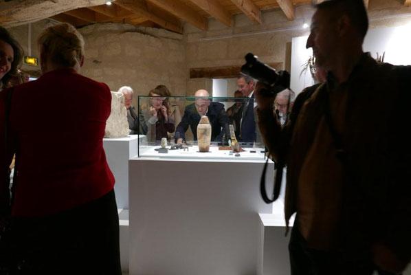 Visite du Ministre de l'éducation, Jean-Michel Blanquer - Exposition Constellation Capricorne - écomusée du véron 2019