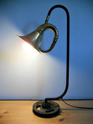 Lampe Klaxon socle poulie