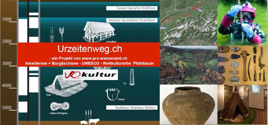 Pfahlbauer Mittelland Wanderung oder Velotour  Wasseramt.ch
