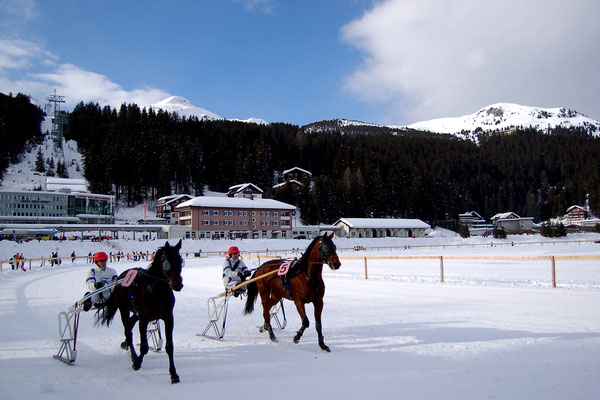 Hochgelegener Skiort Schweiz Arosa