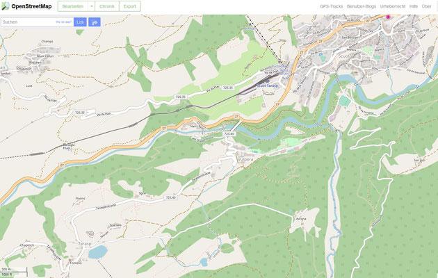 Karte Unterengadin zoomen klick