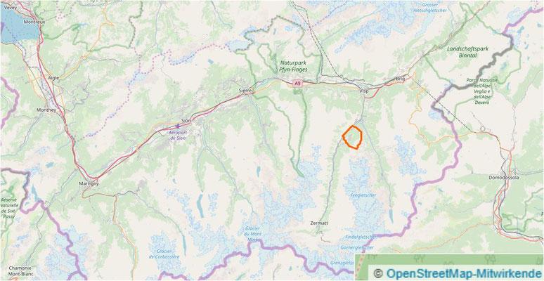 Klicken für online Plan Grächen VS Schweiz
