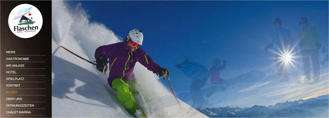Skiurlaub Hotel Flaschen Albinen