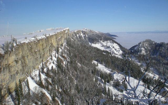 Winterwandern Jura 364 Tage möglich - einmal stürmt es ;-)