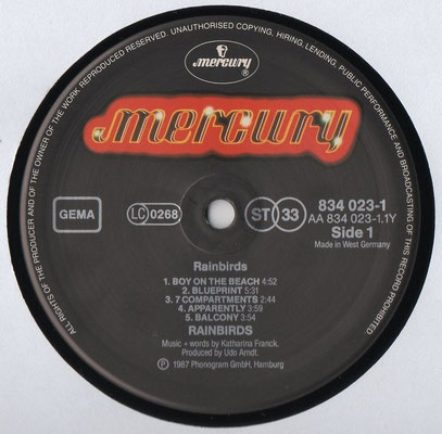Mercury 834 023-1, Deutschland, 1987