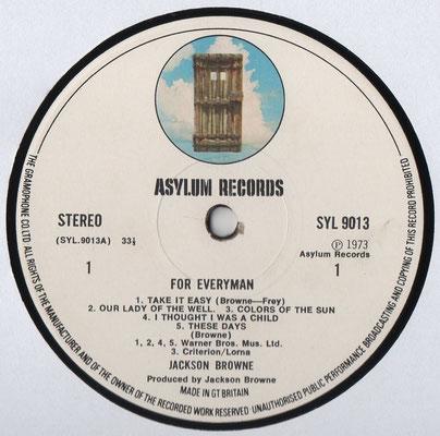Asylum SYL 9013, England, 1973