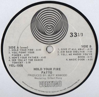Vertigo VEL-1008, B-Seite, USA, 1971