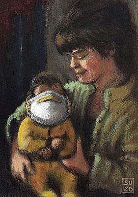 Mutter und Kind 2020 (Su. Schatt.)