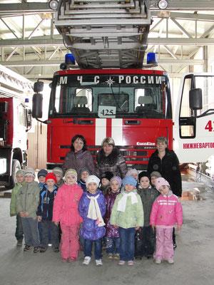Экскурсия в пожарную часть №42
