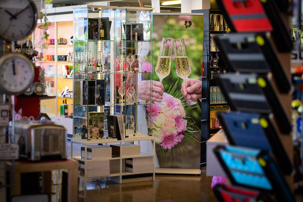 Ausstellung in einem Haushaltsgeschäft