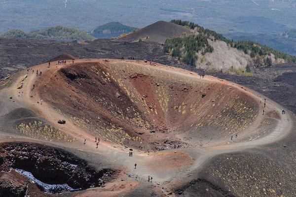 erloschener Vulkankrater am Ätna