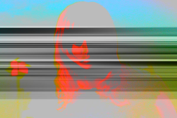 Robotic girl 01.2_2011_190x130 cm_Alu Dibond matt