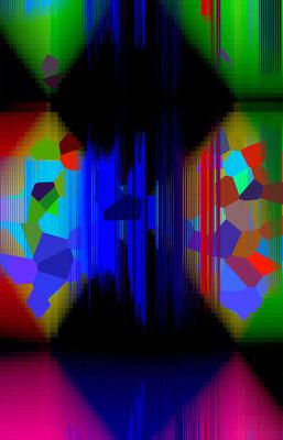 Luminogramme 4.7_2018_50x78 cm_Alu Dibond mit Plexiglas