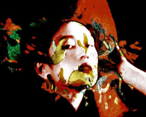 Chinese Woman 02.1_2013_98x80 cm_Stoffdruck