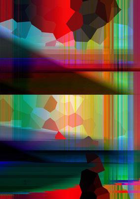 Luminogramme 4.6_2018_50x78 cm_Alu Dibond mit Plexiglas