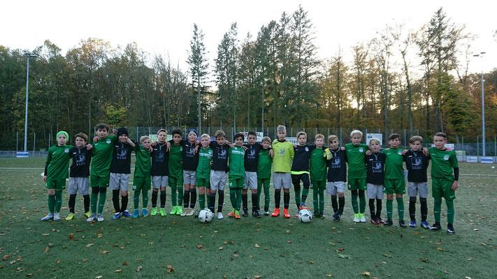 Gemeinschaftsfoto mit der U11 FC Stätzling