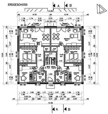 Grundriss zur Baugenehmigung