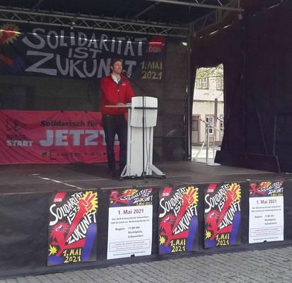 DGB-Kreisvorsitzender Martin Schmidl