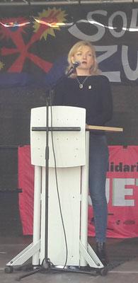 ver.di Gewerkschaftssekretärin M. Eder