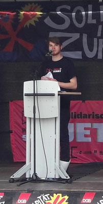 DGB-Jugendsekretär Hendrik Toner
