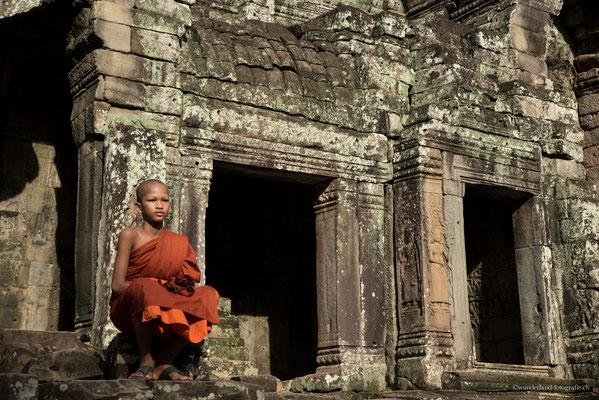 Mönch im Bayon