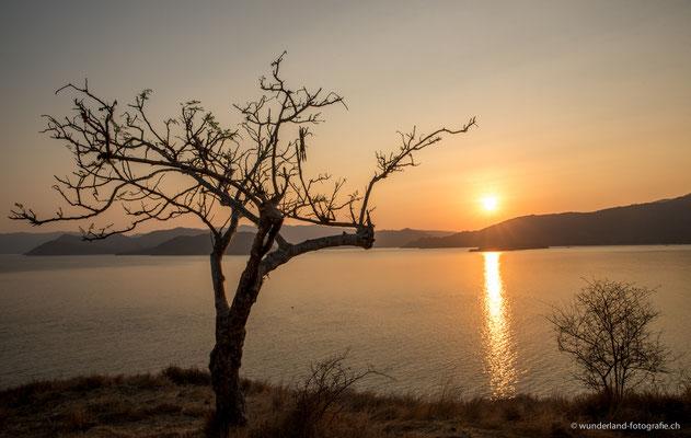Sonnenuntergang auf Komodo